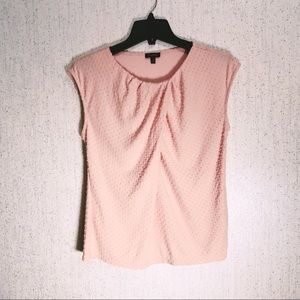 🎉 3/$20 Draped Pink Top with Swiss Dots